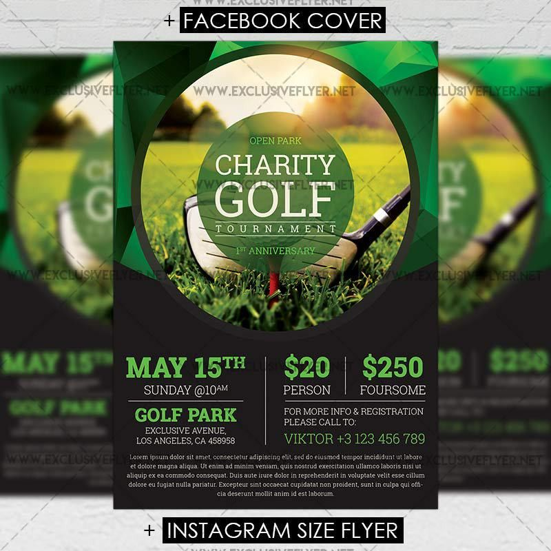 Golf Tournament – Premium A5 Flyer Template | ExclsiveFlyer | Free ...