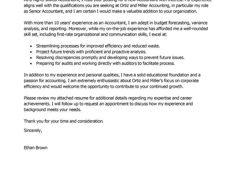 Ingenious Ideas Cover Letter Accounting 8 Best Accountant Examples ...