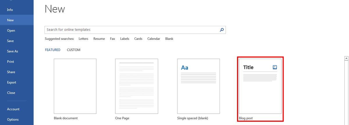 Creating a SharePoint Blog Through Word 2013 | SharePoint & CRM
