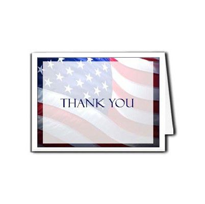 Funeral Thank You Card Template | Programs | Patriotic US