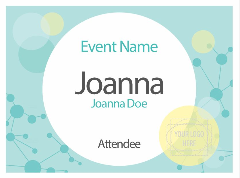 Downloadable templates and designs for nametags and badges