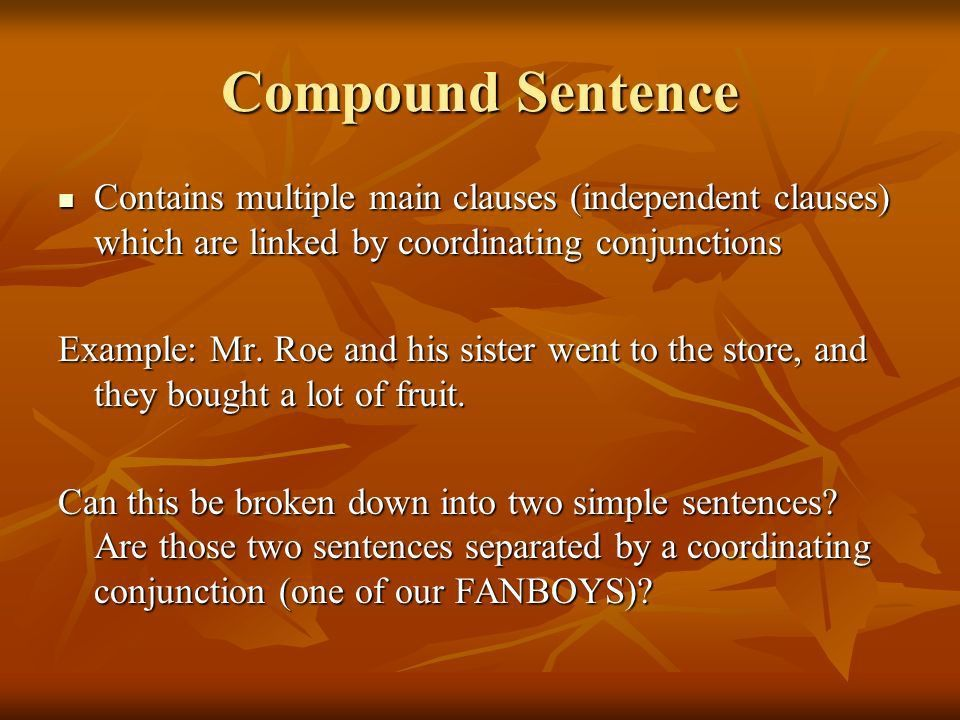 Types of Sentences (Further understanding simple, compound, and ...