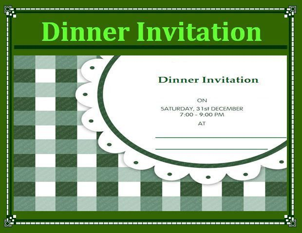 Sample of Dinner Invitation Template - Microsoft Project ...
