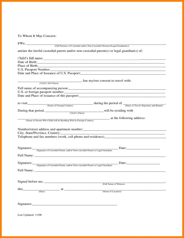 philippines child travel consent. authorization letter for child ...