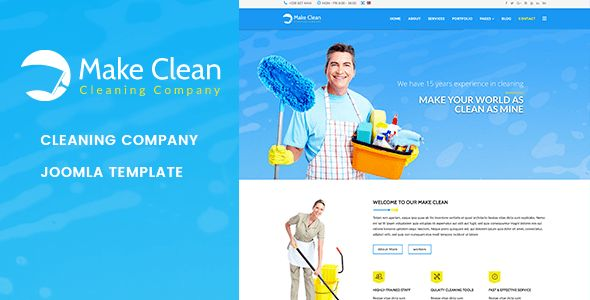 Make Clean | Cleaning Company Joomla Template by jlvextension ...