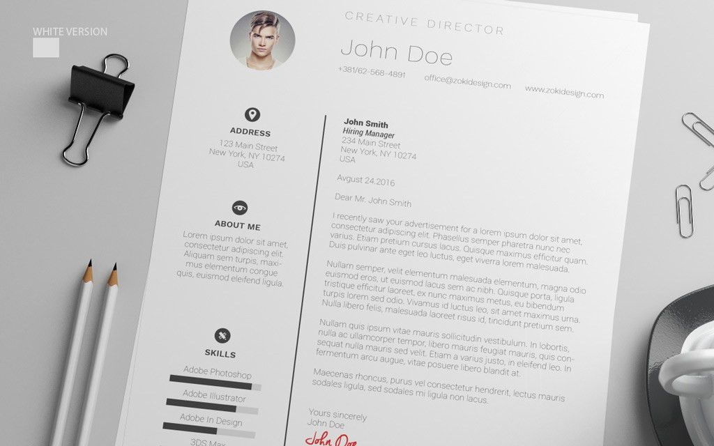 Free Resume Design Template With Cover Letter in PSD, AI & DOC ...