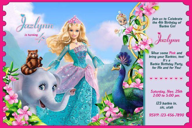 Popular Barbie Birthday Invitation Cards 32 In Sample Invitation ...