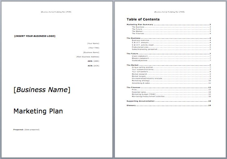 Marketing Plan Template | Microsoft Word Templates
