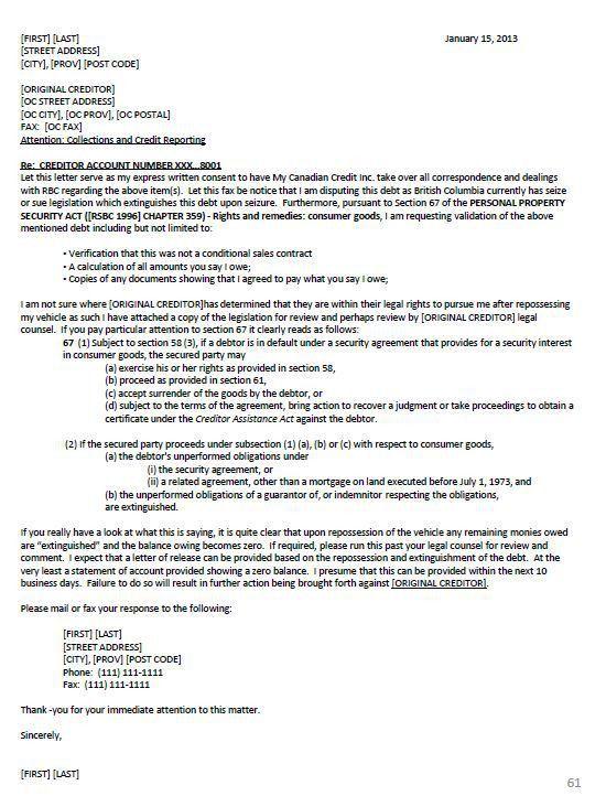 Section 609 Credit Dispute Letter Sample Credit Repair Secrets ...