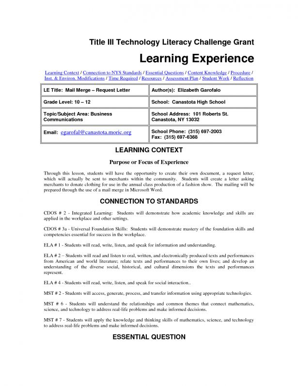 Curriculum Vitae : Resume Template For Internships For College ...