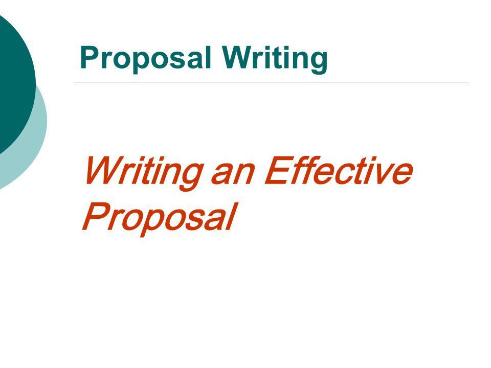 technical proposal writer report introduction from a report on