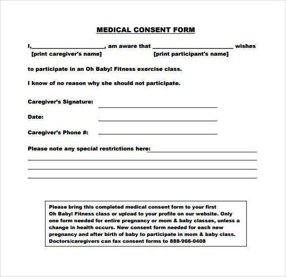Medical Consent Form For Grandparents  BesikEightyCo