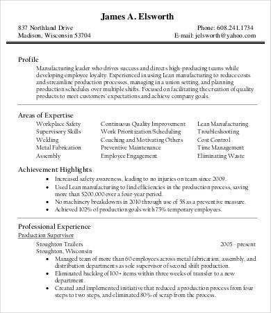 Product Manager Resume - 9+ Free Sample, Example, Format | Free ...