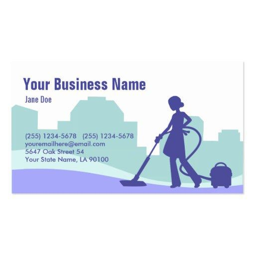 Commercial cleaner Business Card Templates   BizCardStudio