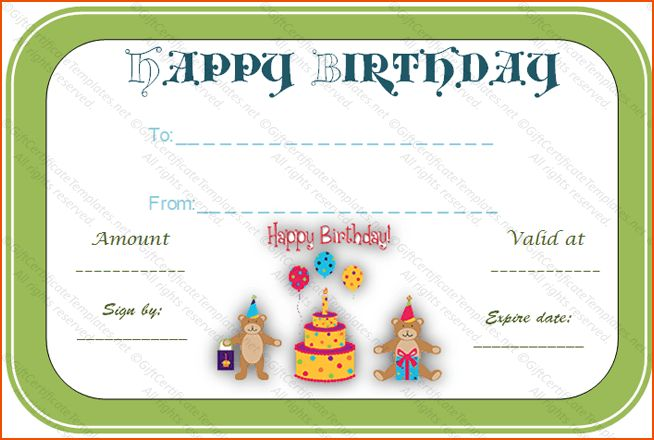 8+ birthday certificate template - bookletemplate.org