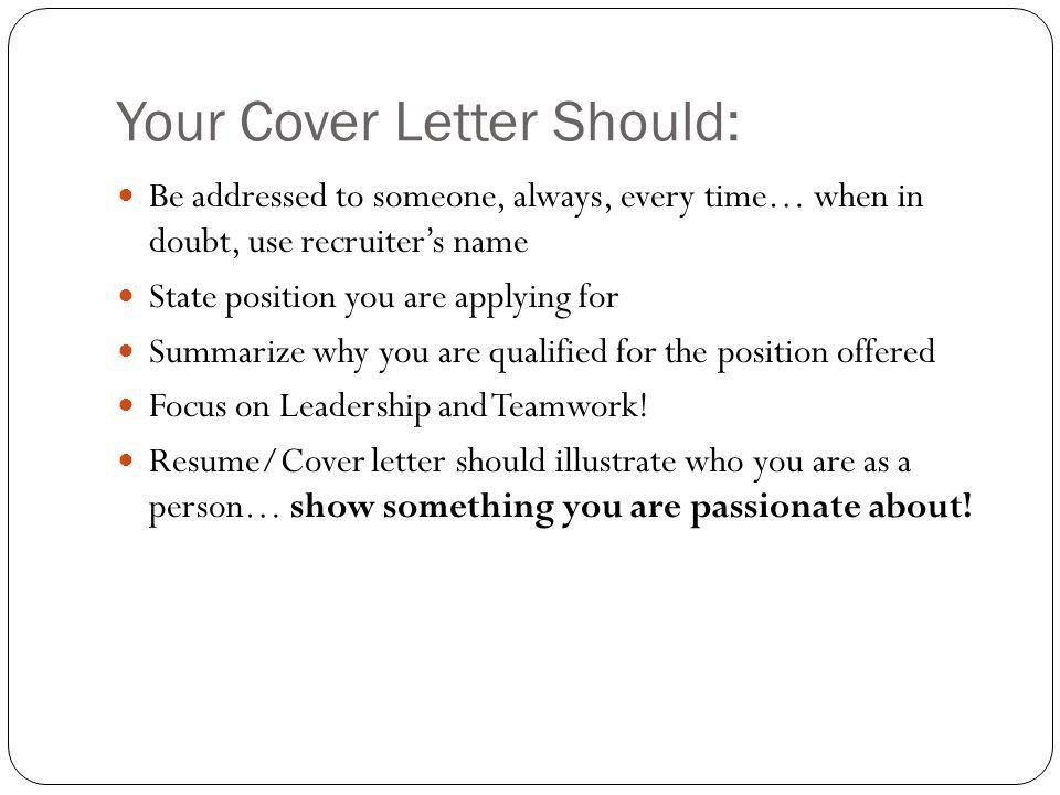 Resume and Cover Letter Preparation for Professional Service Firms ...