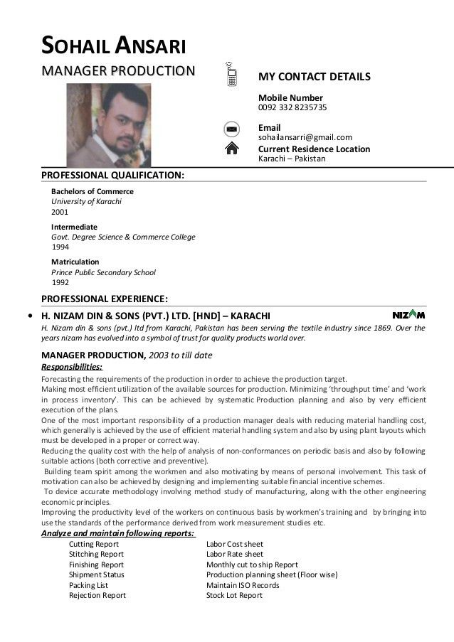 CV Sohail Ansari
