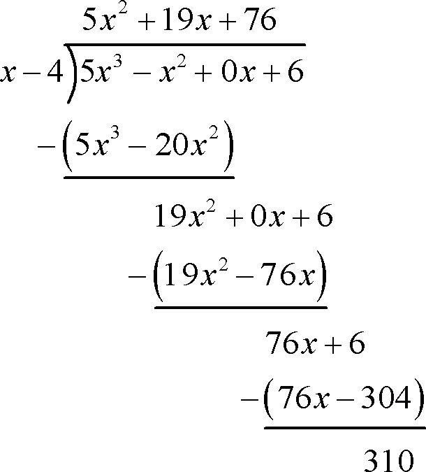 Algebra - Dividing Polynomials