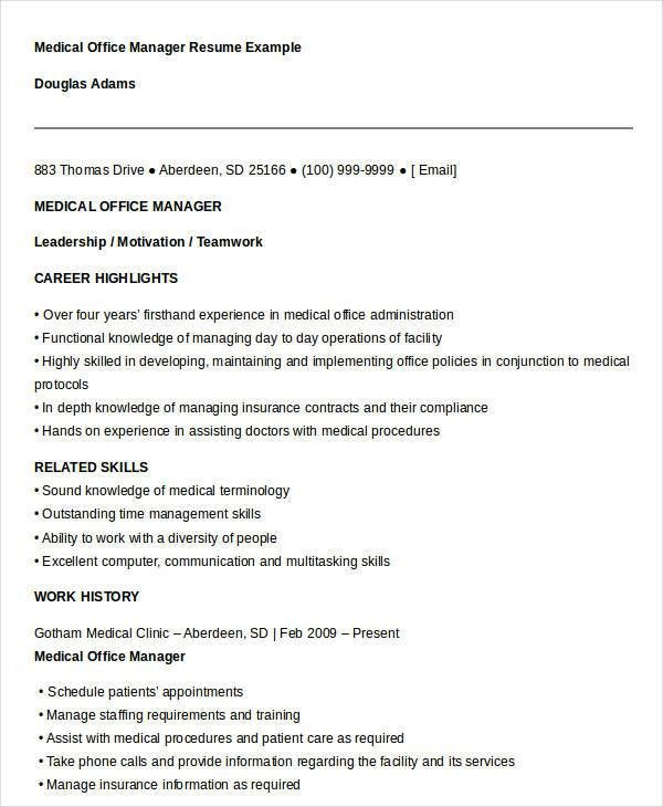 office manager resume example office manager cv sample office