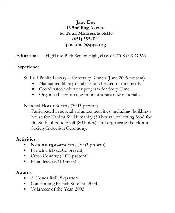 19+ [ Sample Of Student Resume For College ] | Salary Talk During ...