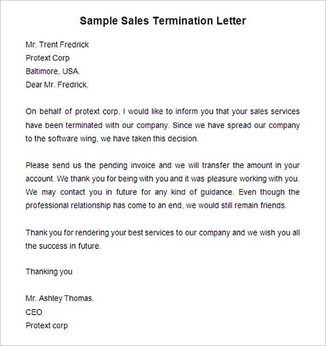 17+ Termination Letter Template