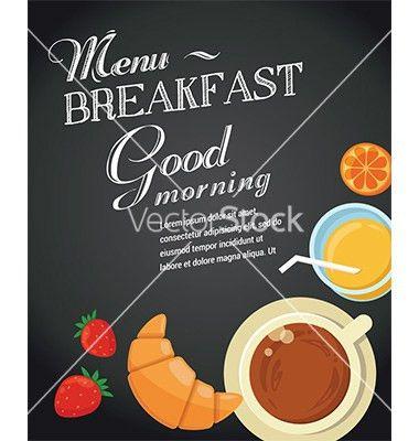 Breakfast menu template vector chalkboard by ma_rish on ...