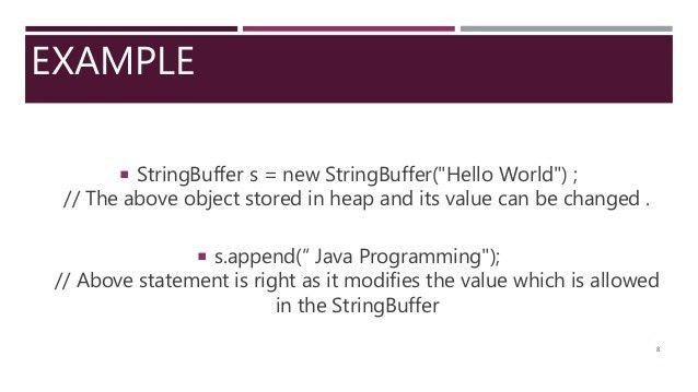 String Builder & String Buffer (Java Programming)