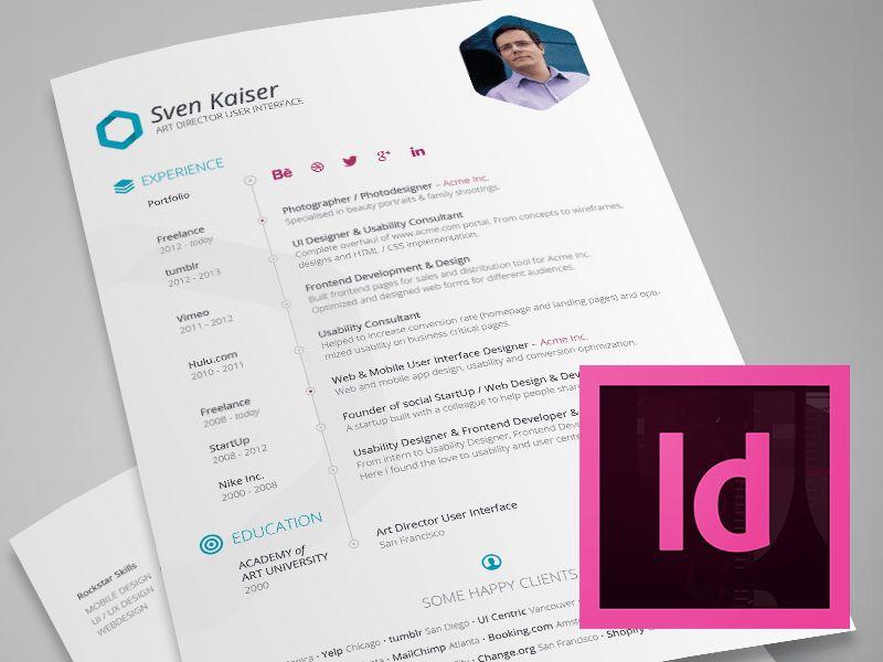 InDesign Template - Free Hexagon Vita/Resume/CV by Sven Kaiser ...