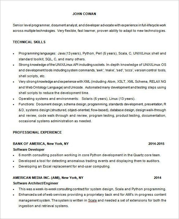 Computer Science Resume Template [Template.billybullock.us ]
