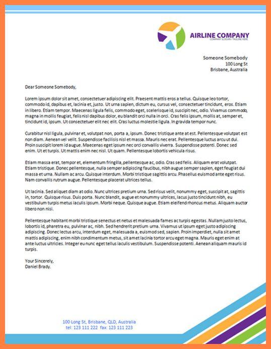 6+ modern letterhead template | Company Letterhead