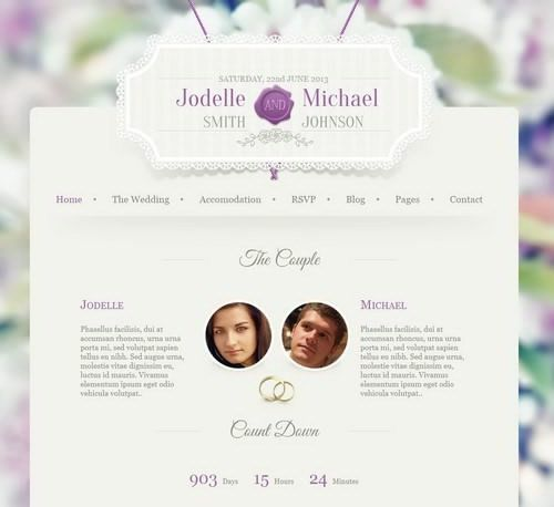 Wedding Invite HTML Wedding Site Templates Website For Wedding ...