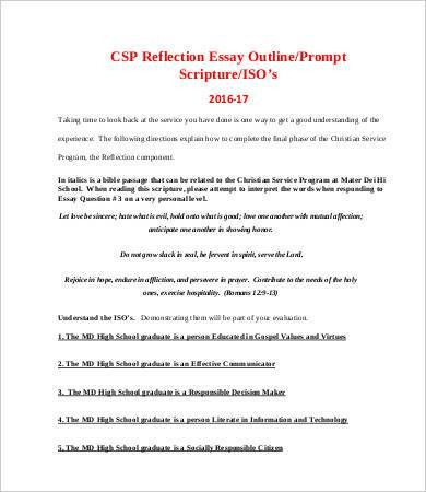 Reflective Essay Template - 8+ Free Word, PDF Documents Download ...