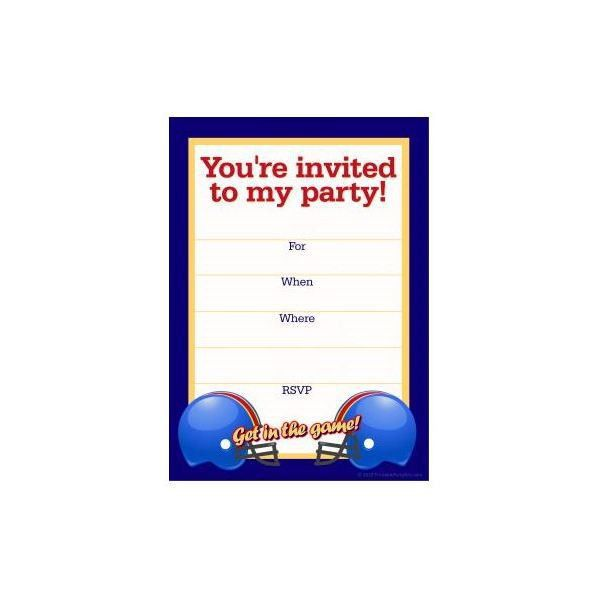 Free Football Party Templates to Download from Online Sources