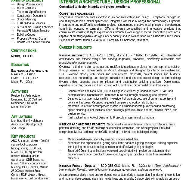 Download Architect Resume Samples | haadyaooverbayresort.com