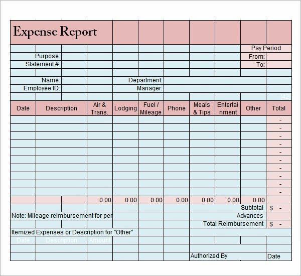 Expense Report Templates - 8+ Download Free Documents in Word ...