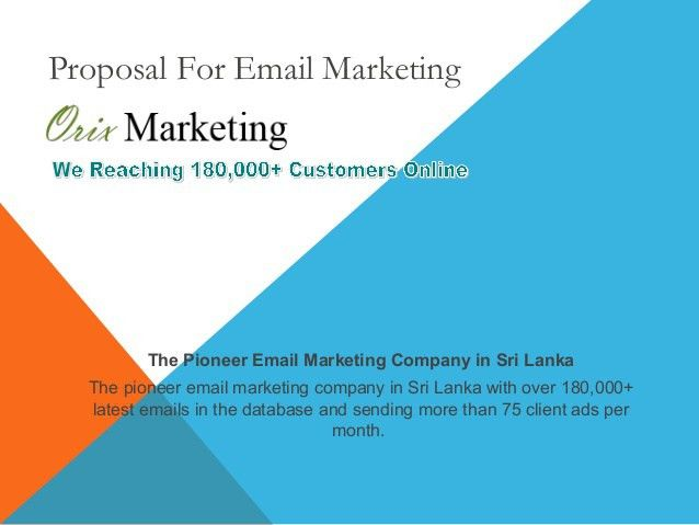 Email Marketing Proposal