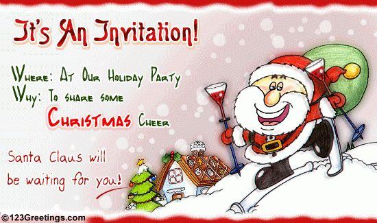 Amazing Free Christmas Invitation Cards 20 On Sample Birthday ...