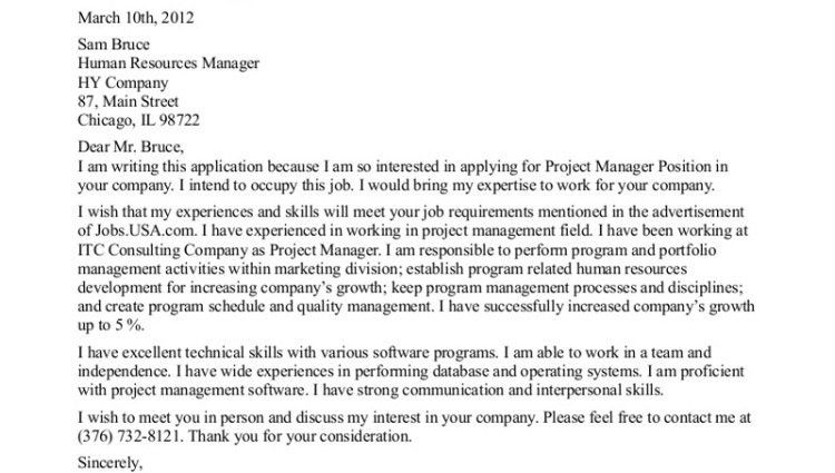 senior project manager cover letter project manager cover letter ...