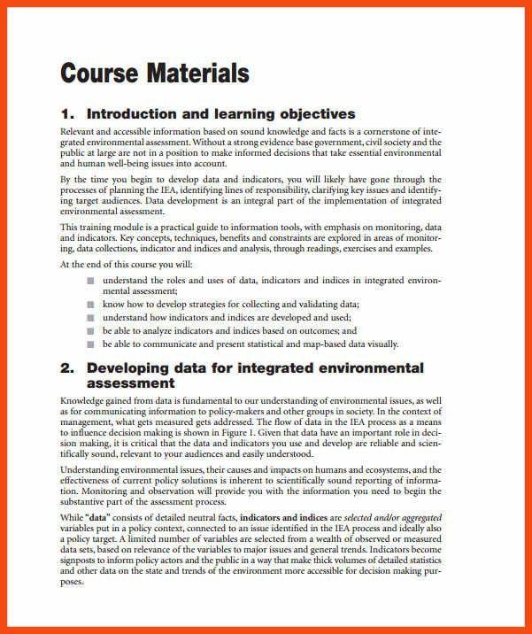 training manual template   program format