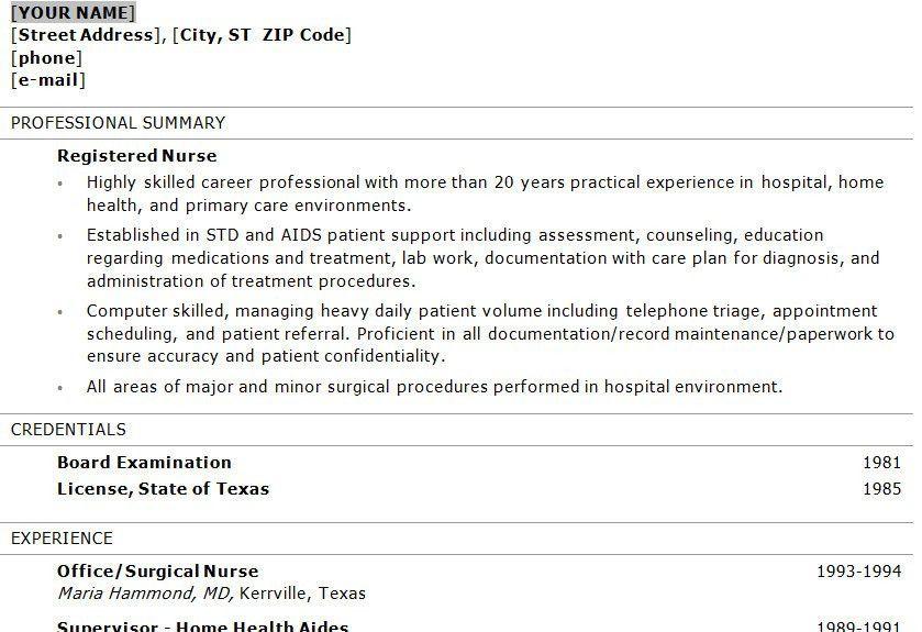 icu registered nurse resume er nurse resume example how to format ...