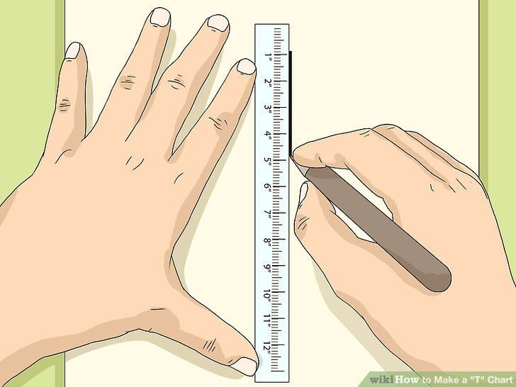 "How to Make a ""T"" Chart: 8 Steps (with Pictures) - wikiHow"
