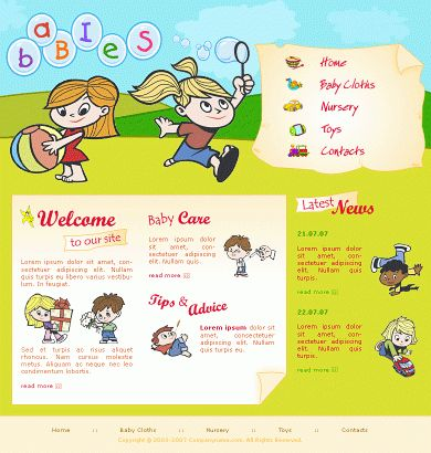 Free Website TemplatesFree YT-BC0105 Template