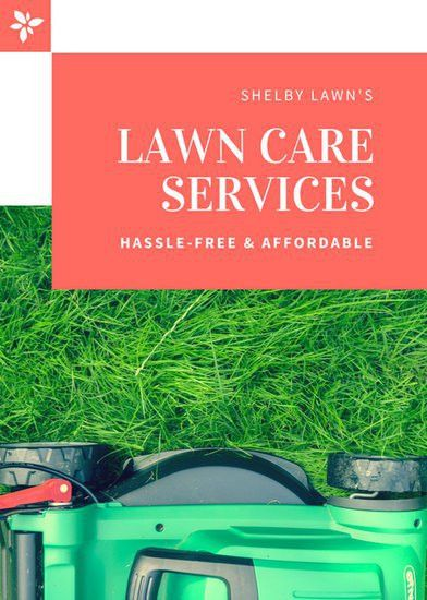 Coral Modern Lawn Care Flyer - Templates by Canva