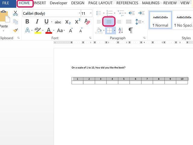 How to Create a Scale of 1 to 10 in Microsoft Word | Techwalla.com