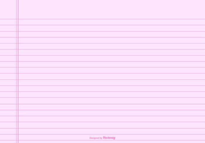 Pink Lined Note Paper Background - Download Free Vector Art, Stock ...