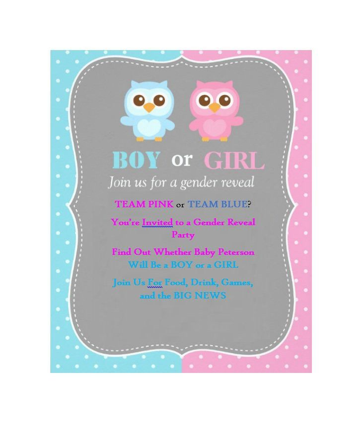 17 Free Gender Reveal Invitation Templates - Template Lab