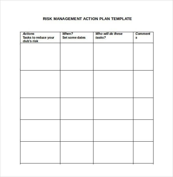 Sample Management Action Plan Template - 8+ Documents in PDF , Word