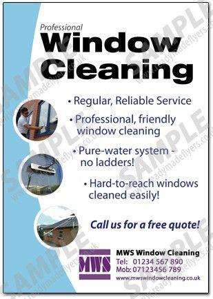 Window cleaning flyers, window washing flyers ideas - Pano