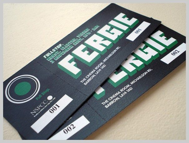 32 excellent ticket design samples uprinting. ticket take a seat ...