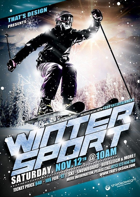 Winter Sports Flyer Template | TDS